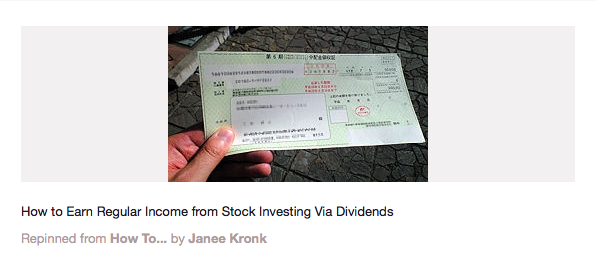 How to earn regular income from stock investing via dividends