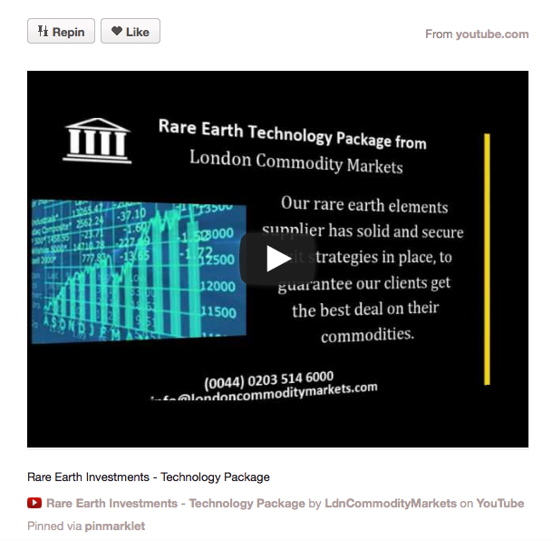 Rare Earth Technology Package From London Commodity Markets